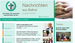 Diakoniewerk Bethel e.V. Newslettermodul