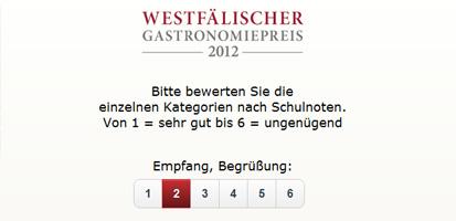 Westfälischer Gastronomiepreis 2012